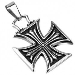 Pendentif croix en acier chopper celtique Tas PEN013