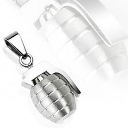 Pendentif grenade acier inoxydable gazez PEN019
