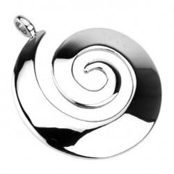 Pendentif acier stainless dome en spirale Vier PEN026