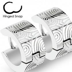 Boucle anneau oreille acier et spirale Katy ANN081