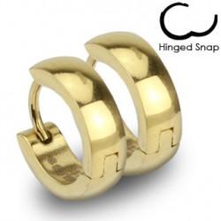 Boucle anneau oreille en acier doré Chuta ANN082