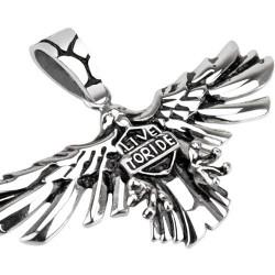 Pendentif aigles d'aigle en acier Dasoi