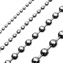 Chaîne pendentif boules acier 3mm et long 55cm Tax PEN043