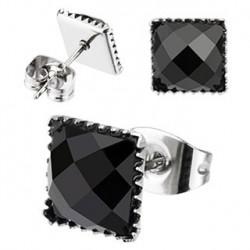Puces d'oreilles 6mm carré en onyx noir Lary Bijoux5,99€