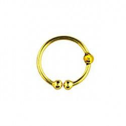 Faux piercing anneau doré 10mm Toua FAU166