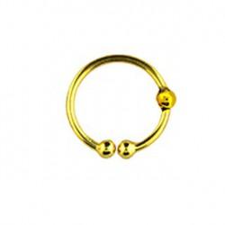 Faux piercing anneau doré 10mm Toya FAU166
