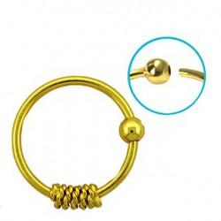 Piercing anneau doré 10mm nez, oreille Chiat NEZ075