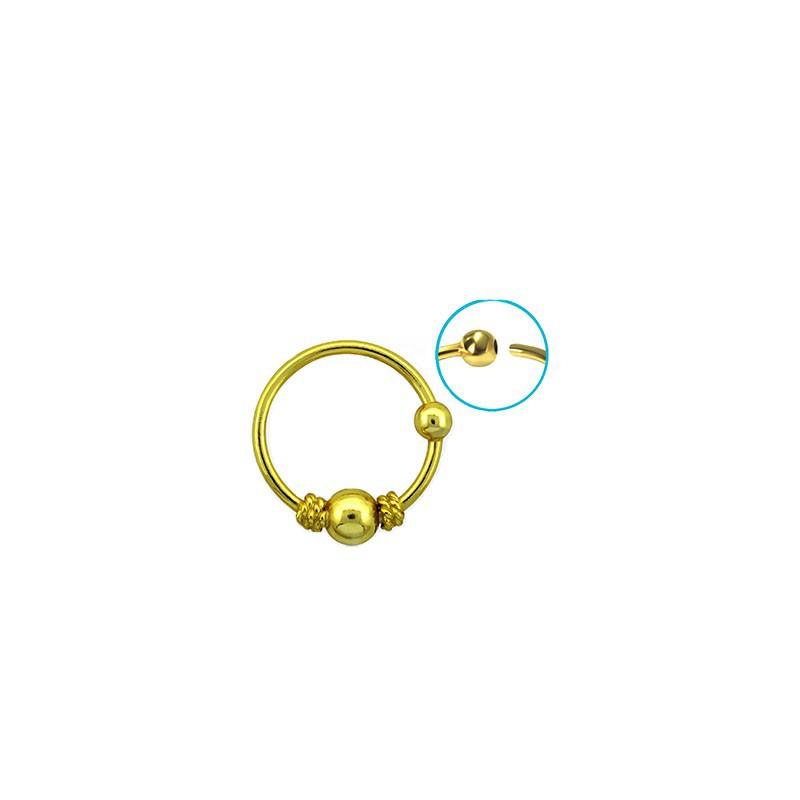 piercing anneau jaune dor nez oreille 10mm puy 3 99. Black Bedroom Furniture Sets. Home Design Ideas