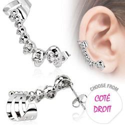 Boucle d'oreille droite avec têtes de mort Gur Bijoux4,20€