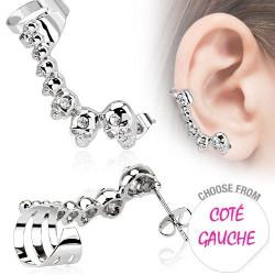 Boucle d'oreille gauche avec têtes de mort Gaw Bijoux4,20€
