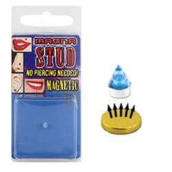 Faux piercing aimanté pointe bleu clair 3mm FAU175