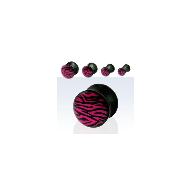 Piercing plug zébré violet 5mm Sunan Piercing oreille3,80€