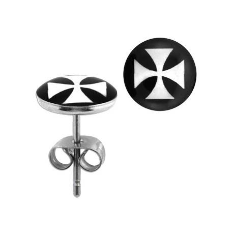 Puces d'oreilles logo avec croix chopper Dix PUC040