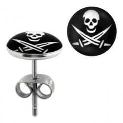 Puces d'oreilles logo avec tête de mort Daq Bijoux3,30€
