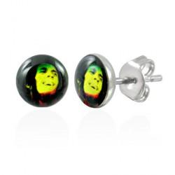 Puces d'oreilles avec logo Bob Marley Dyt PUC053