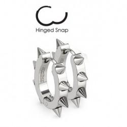 Boucle anneau oreille avec pointes Chus ANN091