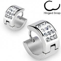 Boucle anneau en zirconium blanc Yut ANN093