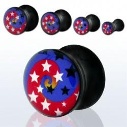 Piercing plug étoiles 5mm Ratta PLU014