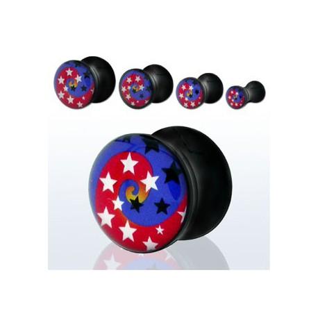 Piercing plug étoiles 6mm Preva PLU014