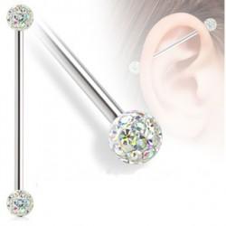 Piercing industriel 32mm avec boules en aurore boréale Haxu Piercing oreille12,49€