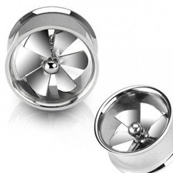 Piercing tunnel hélice tournante 19mm Suw