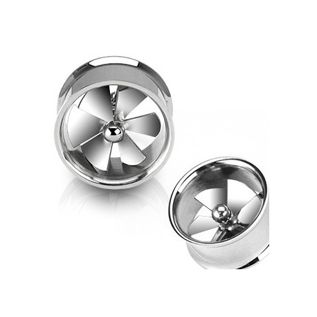 Piercing tunnel hélice tournante 19mm Suw PLU018