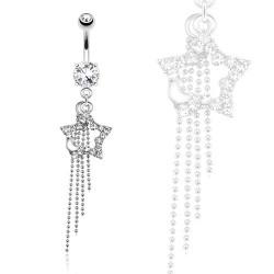 Piercing nombril étoile et lune blanche Hoty Piercing nombril8,90€
