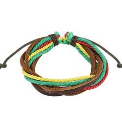 Bracelet cordons triple couleurs rasta Wow BRA027