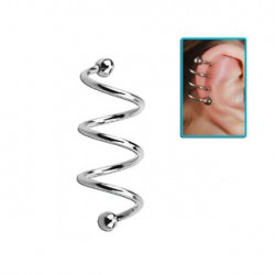 Piercing hélix spirale 10mm avec boules Fus Piercing oreille4,49€