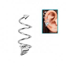 Piercing hélix spirale 10mm avec flèche acier Fuy HEL016