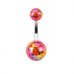 Piercing nombril boule orange tachetée Jya Piercing nombril3,49 €