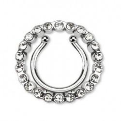 Faux piercing téton blanc et couronne Saq TET068