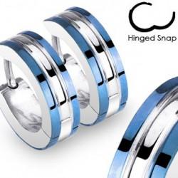 Boucle anneau oreille ligne bleu Cait ANN096