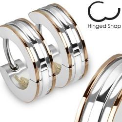 Boucle anneau oreille avec lignes café Cad ANN098