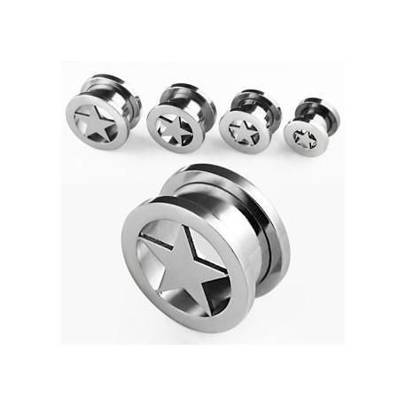 Piercing tunnel étoile 14mm Nongkhai PLU020