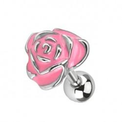Piercing tragus fleur rose Azeu TRA055