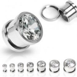 Piercing plug zirconium 12mm Tixi Piercing oreille7,99€