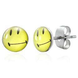 Puces clous d'oreilles smiley jaune Donf Bijoux3,30€