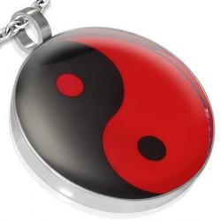 Pendentif yin yang rouge et noir Razlu PEN057