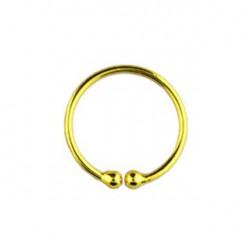 Faux piercing anneau 10mm doré jaune Vas FAU203