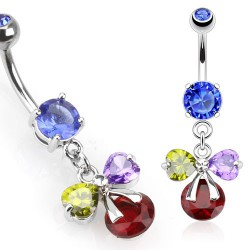 Piercing nombril ruban de couleurs Eyaz NOM516