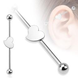 Piercing industriel 38mm cœur acier Hasoy Piercing oreille4,80€
