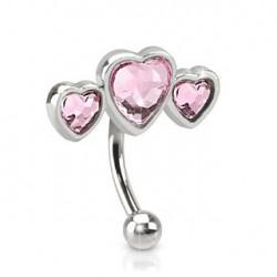 Piercing arcade avec trois cœurs rose Kuga Piercing arcade4,49€