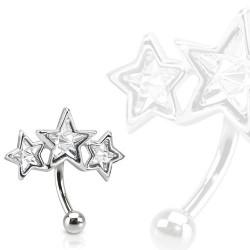 Piercing arcade trois étoiles blanche Kiko ARC100
