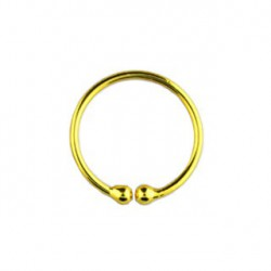 Faux piercing anneau 8mm doré jaune Baza FAU203