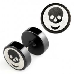Faux piercing d'oreille plug noir tête de mort Quart Faux piercing4,75€