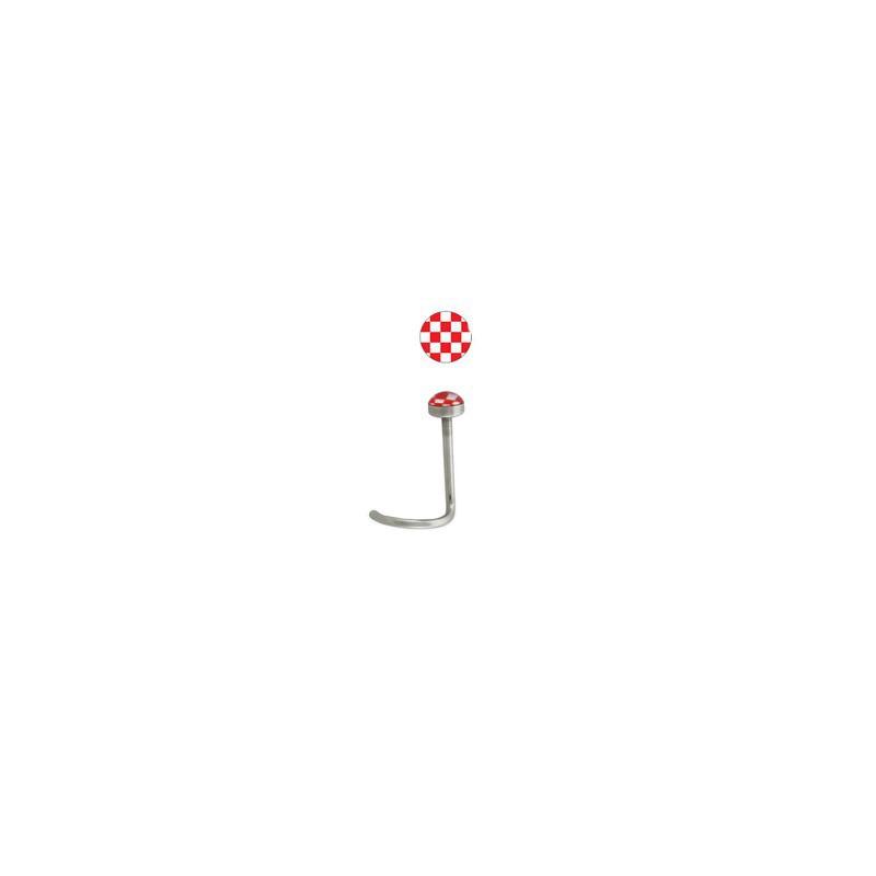 Piercing nez coud en acier chirurgical et logo - Carrelage damier rouge et blanc ...