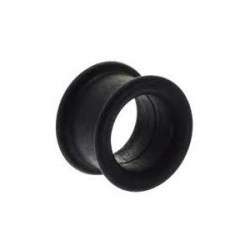 Piercing tunnel silicone noir 10mm Pitra