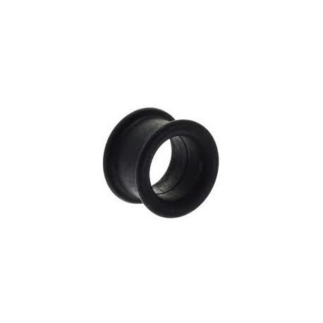 Piercing tunnel silicone noir 10mm Pitra PLU027