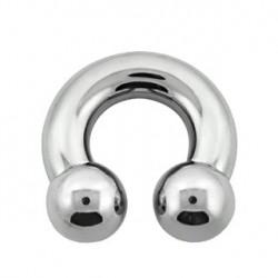 Piercing fer à cheval 16 x 8mm et boules de 12mm Piercing oreille12,50€